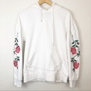 PacSun Oversized Fit Floral Sleeve Hoodie Small
